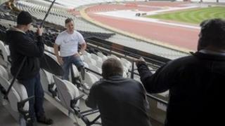 Athlete Heinrich Popow filmed by Bruizer