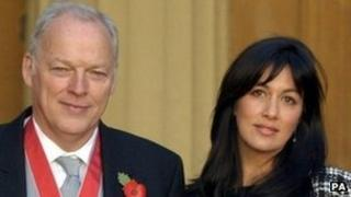 David Gilmour and his wife Polly Samson at Buckingham Palace in 2003