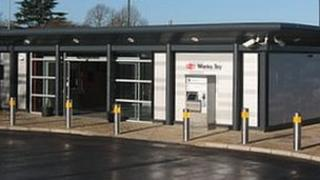 The new Marks Tey station building
