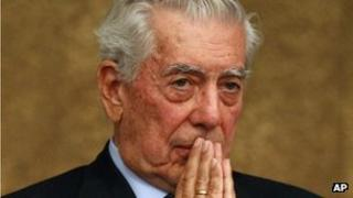 Peruvian Nobel laureate Mario Vargas Llosa