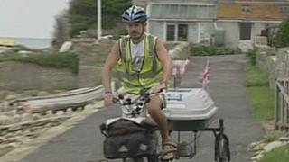 William Blight during a charity bike ride in 2006