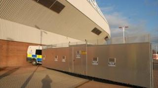 Northumbria Police barrier