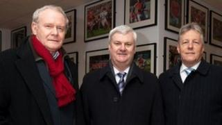 Martin McGuinness, Aogan Fearghail, Peter Robinson