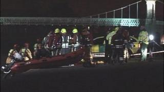 Fire and police rescue the woman from the River Trent