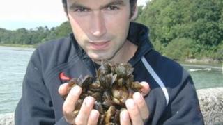 David Aldridge and a handful of zebra mussels