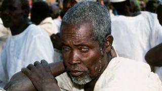 Man with river blindness