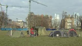 Protest camp in The Meadows