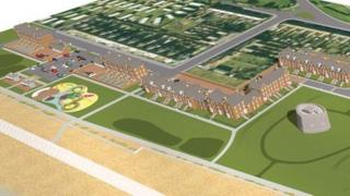 Artist's impression of part of the Felixstowe south seafront development