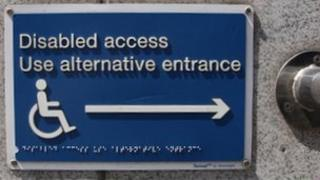Disabled access sign