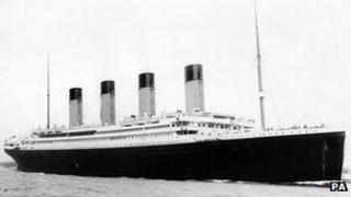The Titanic sank on her maiden crossing of the Atlantic Ocean