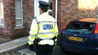 PSNI officer at house in the Arches area of Dungiven