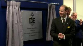 Prince Edward officially opened the Duke of Edinburgh's Award new Regional Office in Belfast.