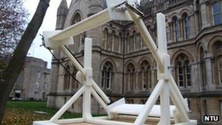 Nottingham Trent University wind turbine prototype