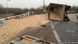 Lorry crash on the M60 motorway