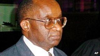 Former transport minister Andre Ntagerura