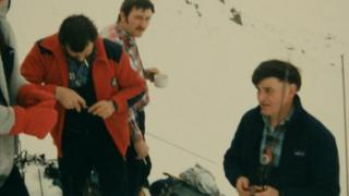 Harry Lawrie (R) and members of the Killin MRT