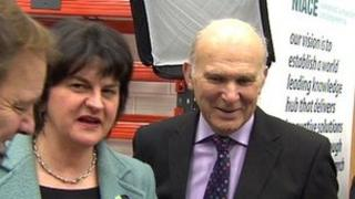 Hugo Swire, Alene Foster and Vince Cable