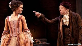 Katherine Kelly and Steve Pemberton in She Stoops to Conquer