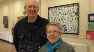 John Cook and Christine Hayden, two of the four trustees