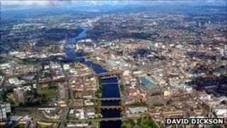 Glasgow aerial view