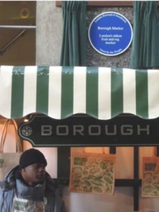Borough Market blue plaque