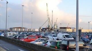 North Beach Car Park in St Peter Port, Guernsey
