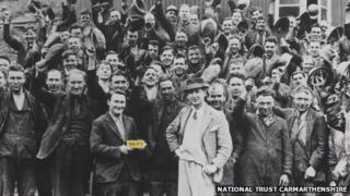 Miners at Dolaucothi Gold Mines in the 1930s