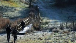 Walkers brave the cold in Yorkshire