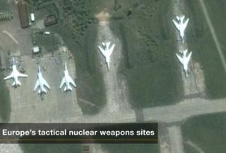 Europe's tactical nuclear weapons sites