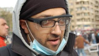 Protester Ahmed Omarah, Cairo (3 February)