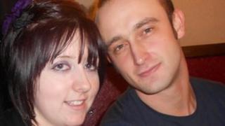 Rhian Woolley with boyfriend Matthew Evans