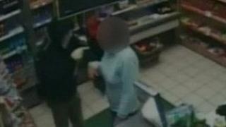 CCTV of robbery Londis shop in Boundary Road, West Bridgford