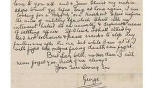 Letter from Private George Henry Davies