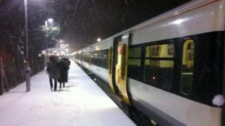 Train in Rochester. Pic by Mick Hansford