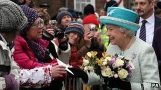 The Queen visiting King's Lynn