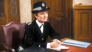 Anna Carteret as Inspector Kate Longton in police drama Juliet Bravo