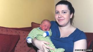 Lisa McNeil and baby Jackson