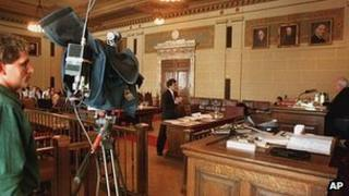 Camera in New York State courtroom