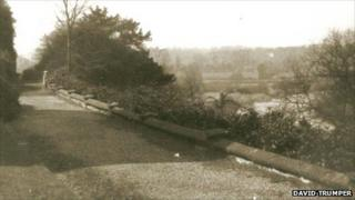 A view of the Thinking Path in the rear terrace at Darwin's childhood home