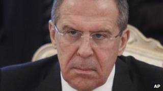 Russian Foreign Minister Sergei Lavrov on 6 February 2012