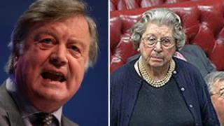 Ken Clarke and Baroness Trumpington