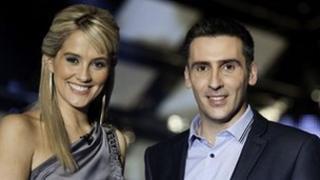 Elin Fflur a Dafydd Du fydd yn cyflwyno Cân i Gymru 2012