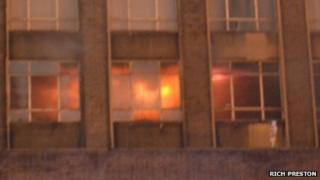 Fire in the Weir Building at Strathclyde University
