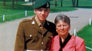 Cpl Paul Long and mother Pat Long