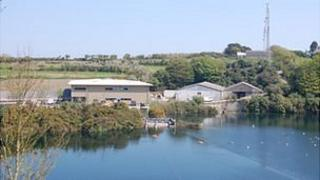 Guernsey Water offices at St Andrew's Reservoir