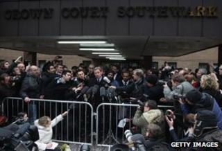 Harry Rednapp talks to the media outside court