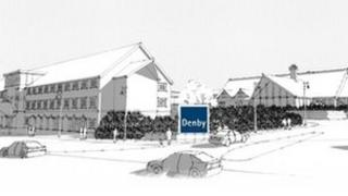 Artist's impression of the new development at Denby