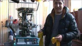 Georgian sock manufacturer Zaza Janezashvili, who won a cheap loan on a hit reality TV show