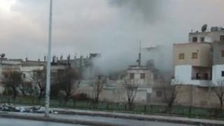 Unverified grab of shelling in Homs released 8 February