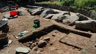 Neolithic gallery grave in Delancey Park, Guernsey